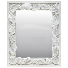 Selenite Mirror with Chalcedony Rosettes