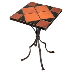 California Tile Wrought Iron Table