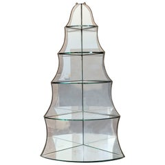 Art Deco Scalloped Mirrored Corner Shelf