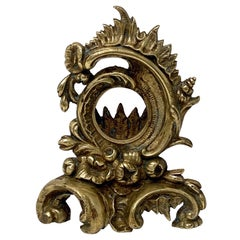 French Rococo Pocket Watch Holder or Display Stand of Gilt Bronze
