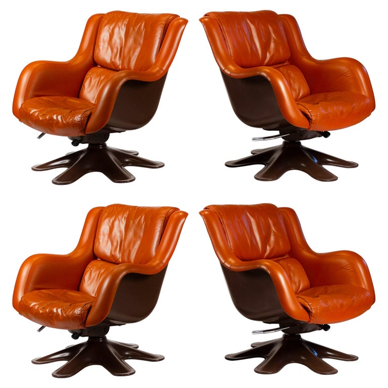 Karuselli Lounge Chairs by Yrjo Kukkapuro for Haimi of Finland 3 Available For Sale