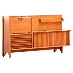 Guillerme et Chambron, Sideboard, Oak and Ceramic Tiles, Edition Votre Maison
