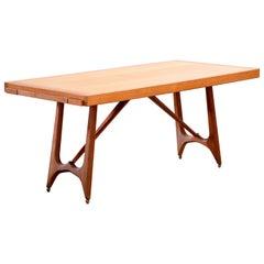 Dining Table, in Oak by Guillerme et Chambron for Votre Maison, France, 1965