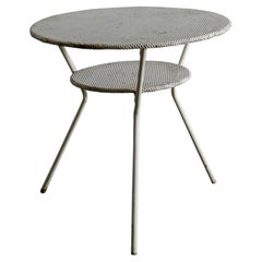 Metal Café Side Table In Style Of Mathieu Matégot Produced in France, 1950s