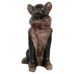 Mid-20th Century Medium Chihuahua Dog Gypsum Decorative Sculpture, Italy, 1960s