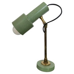 Mid-Century Modern Stilnovo Table Lamp in Green Lacquered Metal, Milano, 1950s