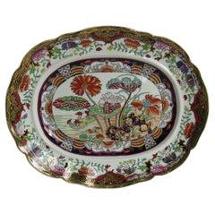 Fine Early Mason's Ironstone Platter in rare Muscove Duck Pattern, circa 1825