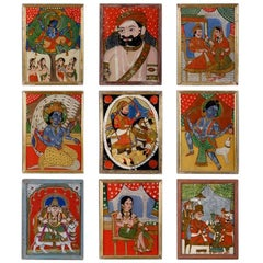 Indian Reverse Glass Paintings
