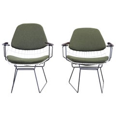 Set of Two Early Pastoe Wire Chairs by Cees Braakman, the Netherlands, 1958