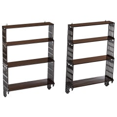 Pair of English Shelves Gothic Style from 18th Century