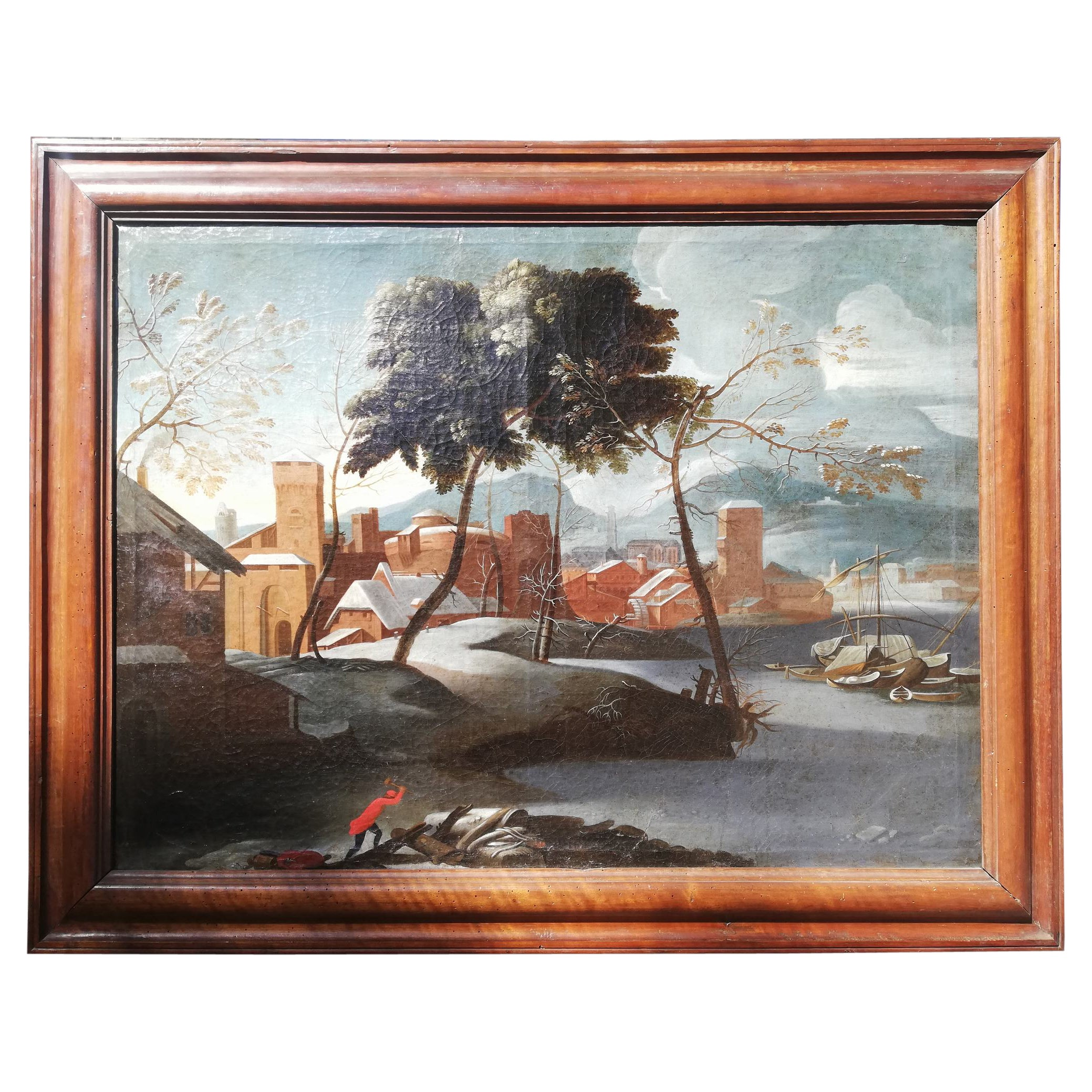 "Flemish School ""Landscape"" 17th Century"