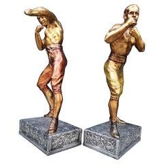 Arthur Waagen '1869-1910' Sculpture American Boxer's Boston Strong Boy