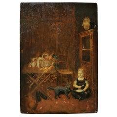 European School Oil on Panel of the 18th Century