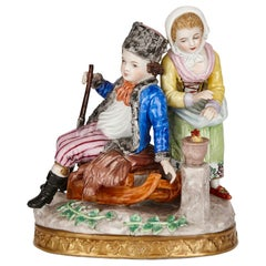 Sitzendorf Porcelain Group of a Young Couple