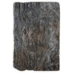 Japanese Old Wooden Board 1800s-1900s/Antique Natural Wood Wabisabi Art