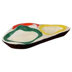 Colourful Midcentury French Roland Brice Ceramic Bowl