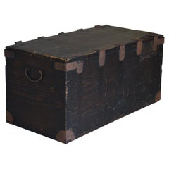 Japanese Old Wooden Box 1860s-1920s/Antique Storage Sofa Table Wabisabi Art
