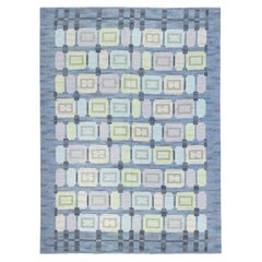 """Mid-20th Century """"Spice Hall"""" Swedish Rug in Pastel Colors by Judith Johansson"""