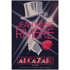 Modern Period French Advertising Poster for Alcazar
