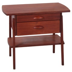 Danish Design Side Table Cabinet Made of Teak with Two Drawers