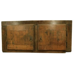 Antique Small Placard, Poplar Cupboard with Two Doors, 18th Century, Italy