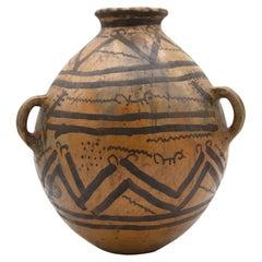 Mayan Pre-Columbian Style Large Pot with Geometric Drawings