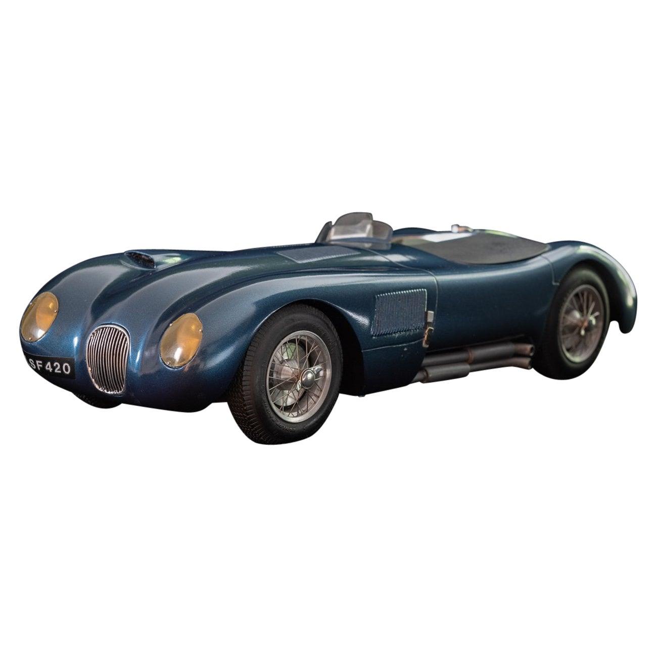 Model of Jaguar C-Type Racing Car