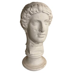 Neoclassical Style Roman Plaster Bust of a God