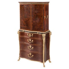 19th Century Ormolu-Mounted Bureau Bookcase in the Neoclassical Manner