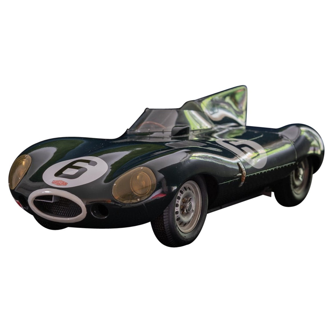 Model of the Jaguar D-Type Racing Car