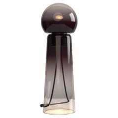 Gigi Dark Purple LED Hand Blown Glass Table Lamp by Studio d'Armes