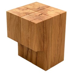 Special Edition Oak Wood Stool or Side Table, Arch 01.1 by Barh.Design