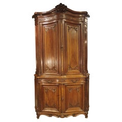 19th Century French Regence Style Walnut Wood Buffet Deux Corps