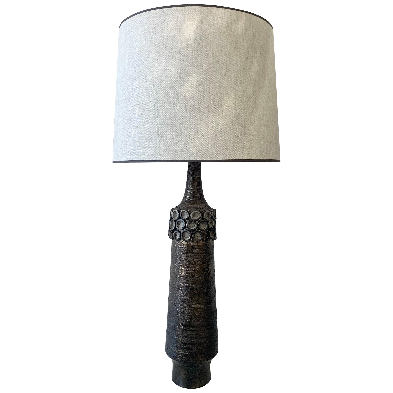 Mid-Century Ceramic Table Lamp by Perignem, Belgium, 1950s