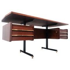 Mid-Century Modern Italian Wooden Desk, 1960s