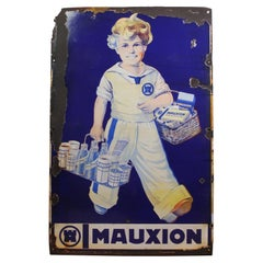 1920s Large Porcelain Sign Mauxion Chocolat, Germany