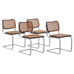 Set of Four Marcel Breuer Cesca Chairs for Gavina, Italy, 1950s