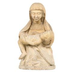 """Spanish Sculpture """"Pieta"""" 16th Century"""