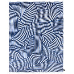 CC-Tapis Rug Inky Dhow by Bethan Gray in Blue