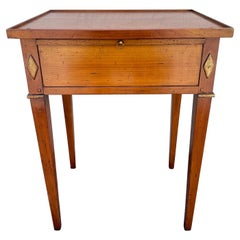 Neoclassical Rectangular Side Table