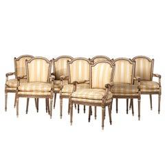 8 Maison Jansen Fauteuils Louis XVI Style