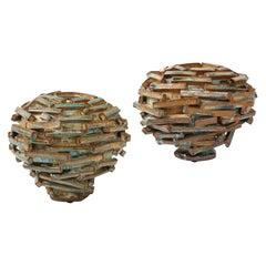 """Pair of """"Jetsam"""" Vases by Robbie Heidinger"""