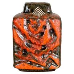 Super Glaze WGP Fat Lava Ceramic Pottery Vase Carstens Tönnieshof Germany, 1970s