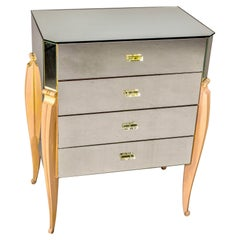French Mid Century Mirrored Chest of Drawers