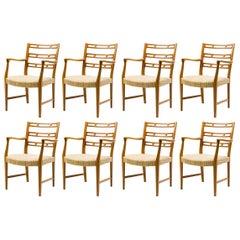 Set of Eight David Rosèn Futura Armchairs