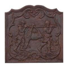 French 19th Century Iron Fireback
