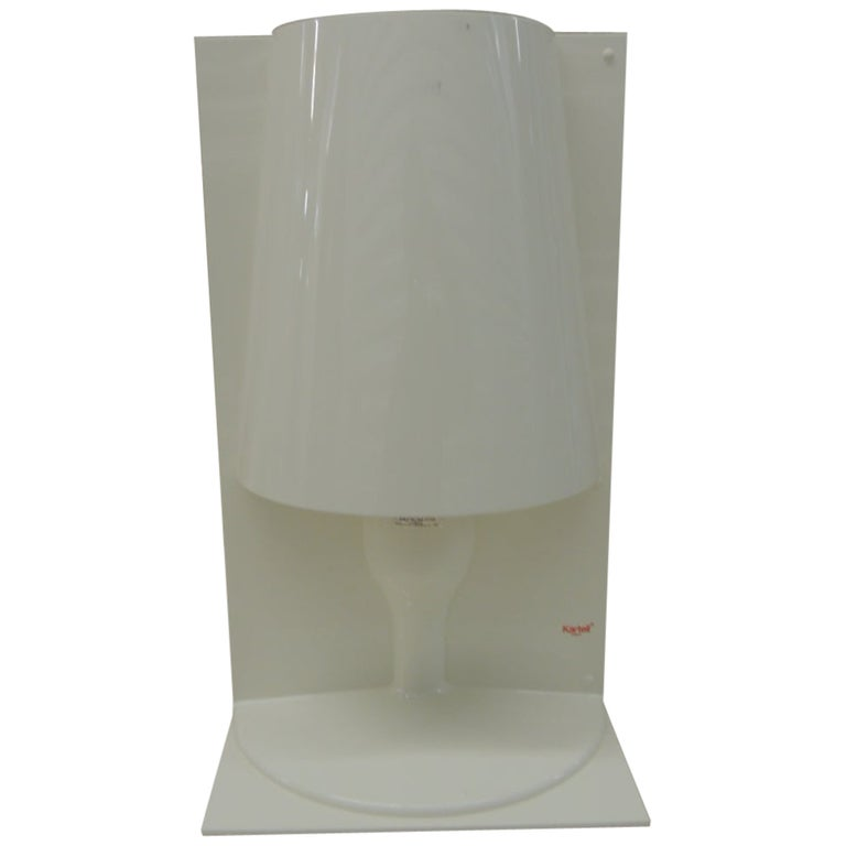 """White Kartell Table Lamp """"the Take"""" by Ferruccio Laviani For Sale"""