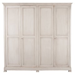 French 19th Century Painted Pine Wardrobe