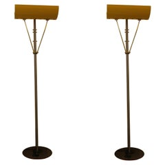 Pair of Afra and Tobia Scarpa Floor Lamps for Benetton Group Salerooms, 1980 ca
