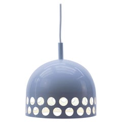 Perforated Space Age Metal Ceiling Lamp, 1960s